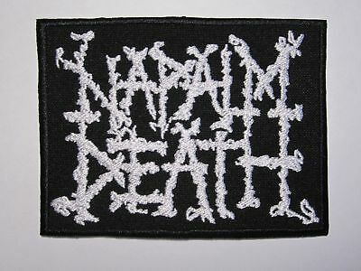NAPALM DEATH logo embroidered NEW patch grindcore death metal