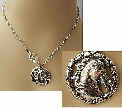 Silver Horse Head Silhouette Pendant Necklace Jewelry Handmade NEW Adjustable