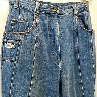 Vintage 1980s Together! Jeans size 28x28 12 Button Ankle Tapered Zip Pockets P11