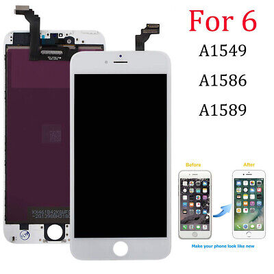 For iPhone 6 6G LCD Display Touch Screen Digitizer Replacement - White Screen