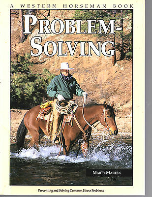 Problem-Solving Softback Book-Marty Marten-A Western Horseman Book-Very Nice