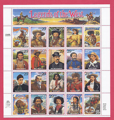 U.S. Scott #2869 LEGENDS OF THE WEST 29c FULL PANE MNH FREE SHIPPING