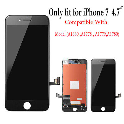 For iPhone 7 LCD Display Touch Screen Digitizer Replacement Black Assembly AAA+