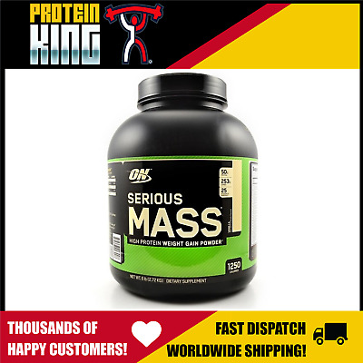 Optimum Serious Mass 2.72Kg Vanilla High Protein Bulk Weight Gainer Powder 6Lb