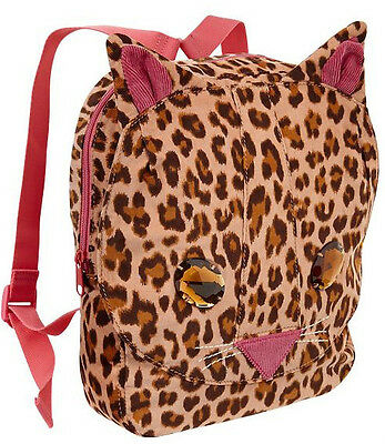 GAP NWT Cat Leopard Print jr toddler book bag backpack