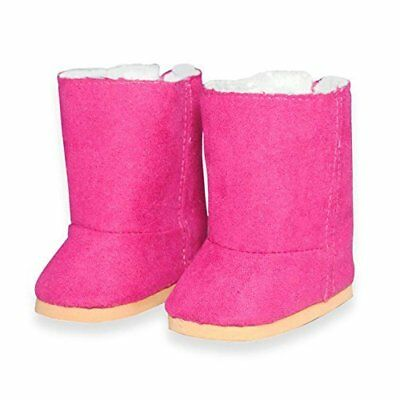 Doll Clothes Pink Snow Boots Shoes Fits American Girl & Other 18 Inch Dolls