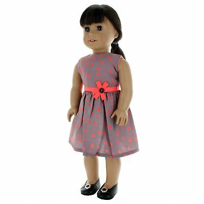 Doll Clothes Grey Dress Outfit  Fits American Girl & Other 18 Inch Dolls