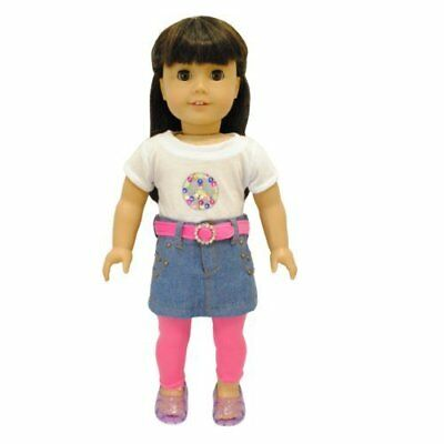 """Doll Clothes 4 Piece Outfits Set Fits American Girl & Other 18"""" Inch Dolls"""