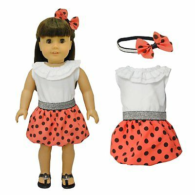 "Doll Clothes  Red Dress Outfit  Fits American Girl & Other 18""  Dolls"