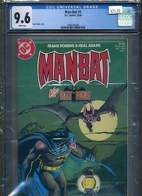 Man-Bat #1 (Dec 1984, DC) $75.00 CGC 9.6 NM+ WHITE (not 9.8) NEAL ADAMS ART!
