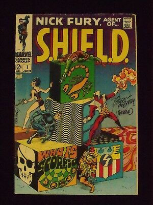Nick Fury, Agent Of Shield, No. 1, June, 1968, 5.5, Fn-.