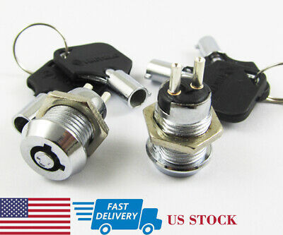 1pc Key Ignition Switch ON/OFF Lock Switch Plastic handle 10.5x19mm #506 (US)