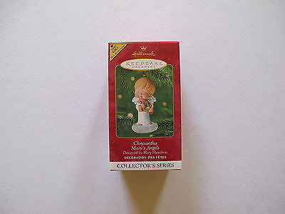 2001 Hallmark CHRYSANTHA Ornament MARY'S ANGELS Harp REPAINT Special COLORWAY