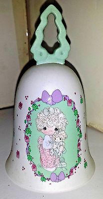 """PRECIOUS MOMENTS Bell """"LOVE IS THE BEST GIFT OF ALL"""" Tree Handle Collectible1992"""