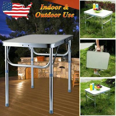 2Ft Folding Camping Table Aluminium Picnic Portable Adjustable Party Bbq Outdoor
