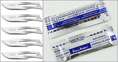 5pc Swann Morton Steel No 10 Sealed Non Sterile Scalpel Blades For Handle #3 5
