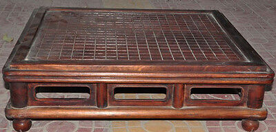 "26"" old chinese huanghuali wood Weiqi Of Go Chessboard Chess Checkerboard Tables"