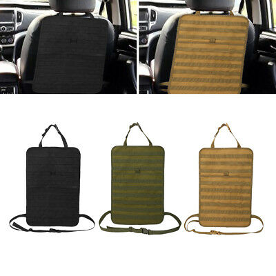 Tactic Molle Car Seat Organizer 600D Nylon Seat Back Covers Multi-Pocket Car ZY