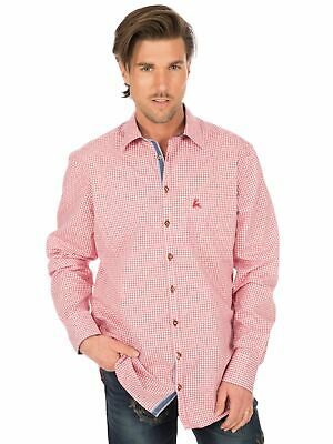 Os-Trachten Traditional Shirt Long Sleeve 320002-3401 Red