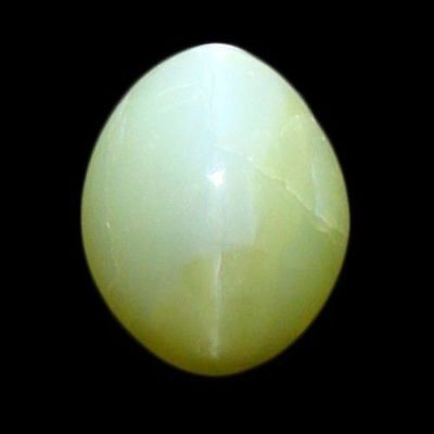 """1.510 Cts"""" VERY VERY RARE NATURAL GREEN CHRYSOBERYL CAT'S EYE OVAL CAB  !!!"""
