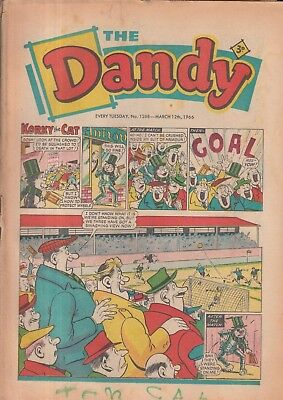 The Dandy Comic Every Tuesday No. 1268 12Th March 1966.