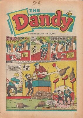 The Dandy Comic Every Tuesday No. 1256 18Th Dec 1965.