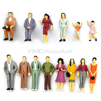 Building Layout Model People Train HO Scale Painted Figure Passengers x100