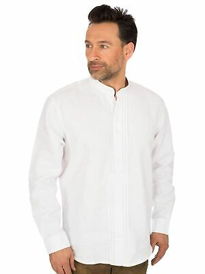 Os-Trachten Traditional Shirt Stand up Collar Pfoad 320000-3415 White