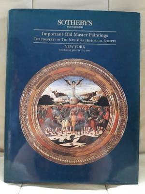 Sothebys Catalogue Important Old Master Paintings January 1995