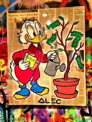 Alec monopoly Hand-painted Portrait OIL PAINTING WALL DECOR ART CANVAS(Unframed