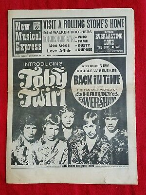NME: New Musical Express feat Stones, Bee Gees, Who 20th January 1968