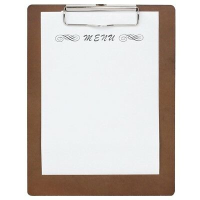 Olympia Wooden Menu Presentation Clipboard A4 Wood Clip Board