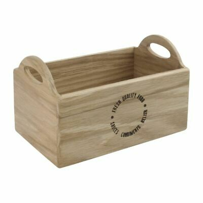 Olympia Oak Printed Table Caddy 230mm Wood Condiment Holder