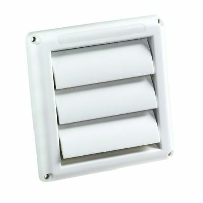 "4"" Dryer Vent Cover Hood White Replacement Exhaust Fan Wide Mouth Outdoor"