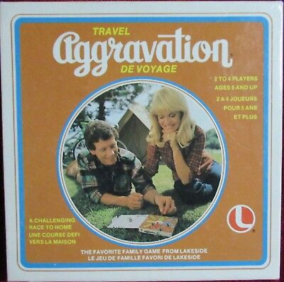 Aggravation Game Travel - Vintage 1980 - Great For Family - Lakeside - Complete!