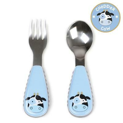 New Skip Hop Zootensils Fork and Spoon Set - Cheddar Cow Model:ED3DD856
