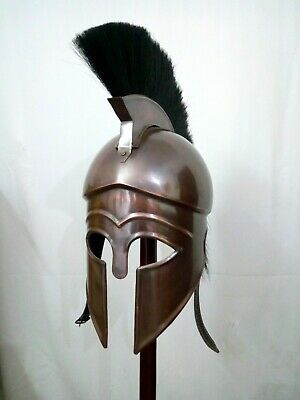 Antique Finish Armour Greek Corinthian Medieval Helmet Replica Gift