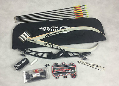 New Mens Archery Black Core Metal Recurve Bow Starter Kit * With All You Need *