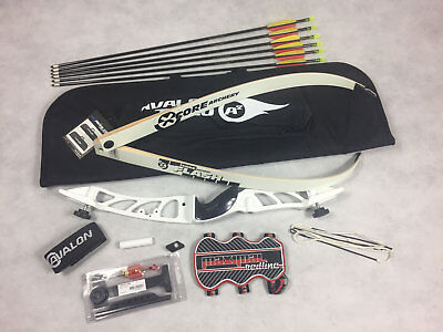 New Mens Archery White Core Metal Recurve Bow Starter Kit * With All You Need *