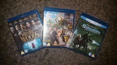 blu ray bundle sorcerers apprentice, into the woods, oz the great and powerful
