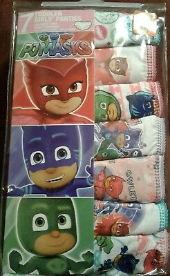 NEW PJ Masks Girls Set of 7 Underwear 2T/3T OR 4T