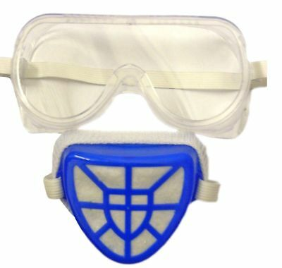 2Pcs Safety Goggles And Filter Mask Set NEW