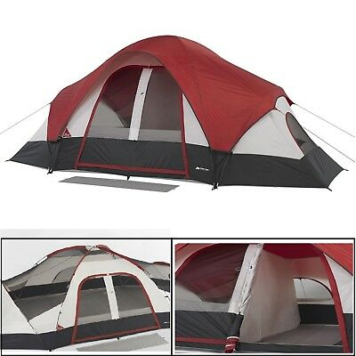 Ozark Trail 8 Person C&ing Tent 2 Room Outdoor Family Dome Tent Easy Setup  sc 1 st  PicClick & DOME TENT 8-Person Ozark Trail 74