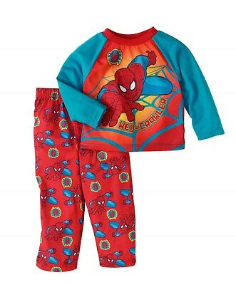 Boys Marvel Spider-Man 2pc Pajama's Set New with Tags Size 4T Long Sleeve Kids