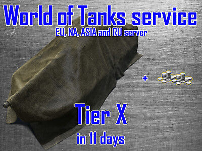 World of Tanks service NA, EU, RU and ASIA - Tier X in 11 days!!