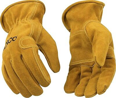 Kinco 97 Double Thick Palm Strong Cowhide Leather Fencing Outdoor Work Gloves
