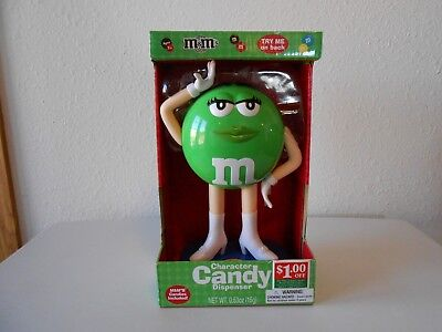 M&M's 2013 Ms. Green Candy Dispenser New In Box