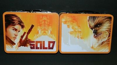 Solo: A Star Wars Story Movie Large Carry All 2 Sided Tin Tote Lunchbox UNUSED