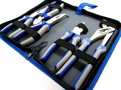 U.S PRO  5pc Pliers Set Combination / Long Nose / Cutters / Waterpump Plier 1821