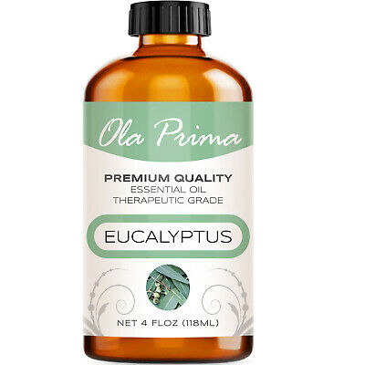 Eucalyptus Essential Oil - Multiple Sizes - 100% Pure - Amber Bottle + Dropper